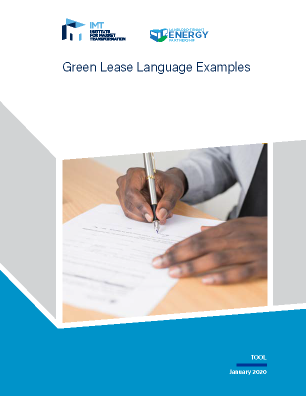 Green Lease Language Examples cover page