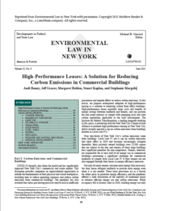 High-Performance Leases cover