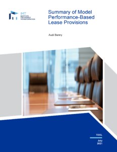 Summary of Model Performance-Based Lease Provisions cover